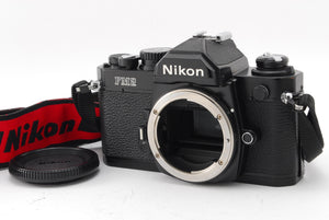 【EXC++++】NIKON NEW FM2 BLACK 35MM SLR BODY ONLY W/ STRAP FROM JAPAN