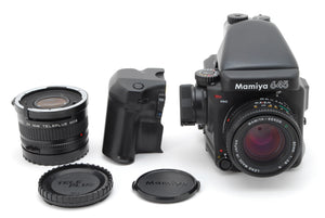 【NEAR MINT+++】MAMIYA 645 PRO BODY W/ SEKOR C 80mm f/2.8, AE FINDER, 120 BACK