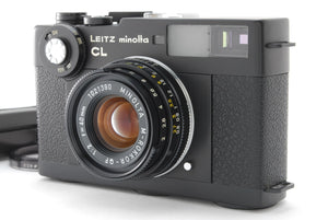 【NEAR MINT+++】LEICA LEITZ MINOLTA CL W/M ROKKOR QF 40MM F/2 WITH CASE FROM JAPAN