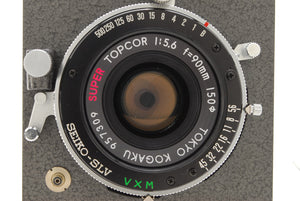 【NEAR MINT+++】HORSEMAN VH BODY W/ SUPER TOPCOR 90mm f/5.6 LENS SET FROM JAPAN