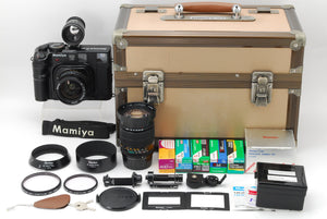 【NEAR MINT IN CASE】NEW MAMIY 6 SIX MF W/ G 50MM,150MM LENS, PANORAMIC ADAPTER