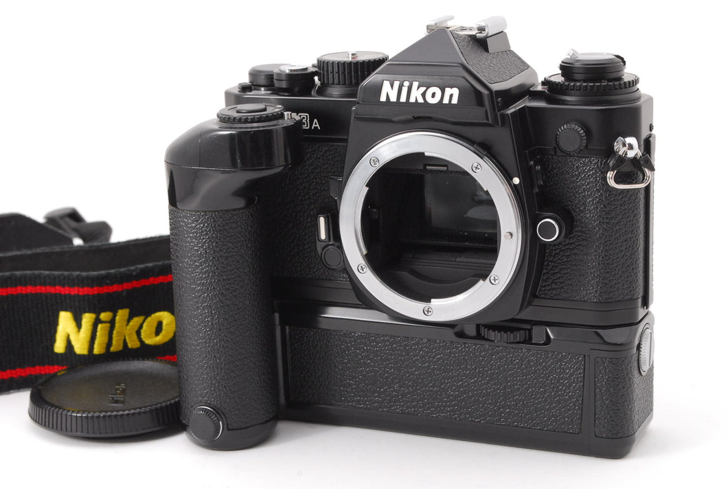 【NEAR MINT+++】NIKON FM3A 35MM SLR BLACK BODY WITH MD-12 MOTOR DRIVE FROM JAPAN