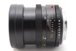 【NEAR MINT+++】 LEICA LEITZ CANADA SUMMICRON R 90mm f/2 3CAM R MOUNT From Japan
