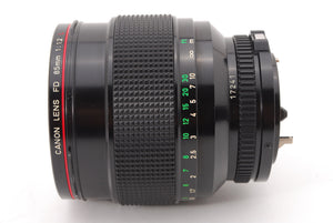 【MINT W/ BT-72 HOOD】CANON NEW FD NFD 85MM F/1.2L MF PORTRAIT LENS FROM JAPAN