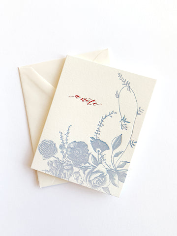 A Note Letterpress Greeting Card