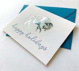 Happy Holidays Foil Buffalo Holiday Greeting Card