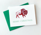 Merry Christmas Foil Buffalo Holiday Greeting Card