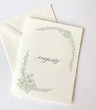 Congrats Letterpress Greeting Card