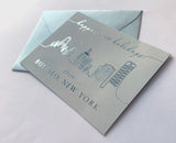 Happiest of Holidays Foil Buffalo Skyline Holiday Card Pack