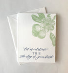 Celebrate the Day of Your Birth Letterpress Greeting Card