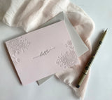 "Blush and Grey ""Hello"" Note Card Pack"