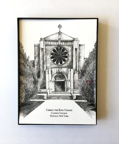 Christ the King Chapel - Canisius College in Buffalo, NY Illustration Print