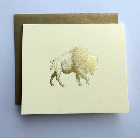 Gold Buffalo Foil Greeting Card