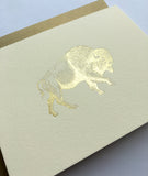 """Gold Buffalo"" Gold Foil Card Pack"