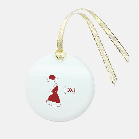Ho Holiday Glass Ornament - Round