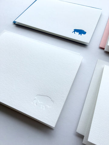 """Tiny Buffalo"" Letterpress Card Pack"
