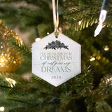 I'll Be Home, If Only In My Dreams, Glass Ornament - Hexagon