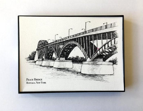Peace Bridge Illustration Print - Buffalo, NY