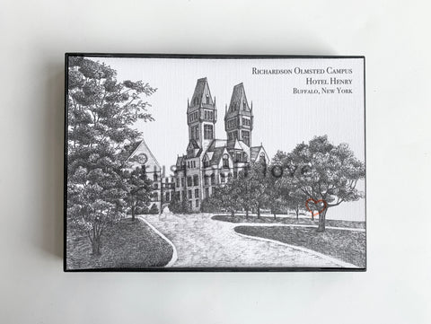 Hotel Henry - Richardson Olmsted Campus Illustration Print - Buffalo, NY