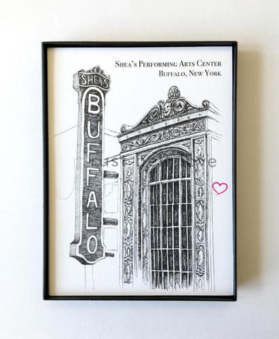Shea's Performing Arts Center Illustration Print - Buffalo, NY