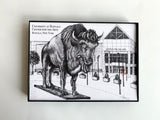 University at Buffalo Illustration Print - Buffalo, NY