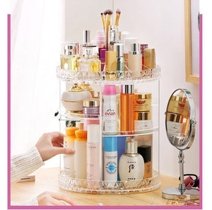 【Buy TWO get  15% OFF +free shipping】 360° Rotating Crystal  Cosmetic Storage Box