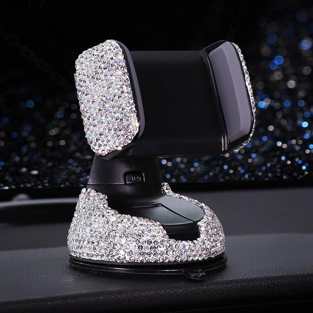 Luxury Crystal Diamond Universal Car Phone Holder
