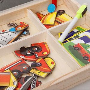 40% OFF-Magnetic puzzle box - preschool education toys - foster imagination