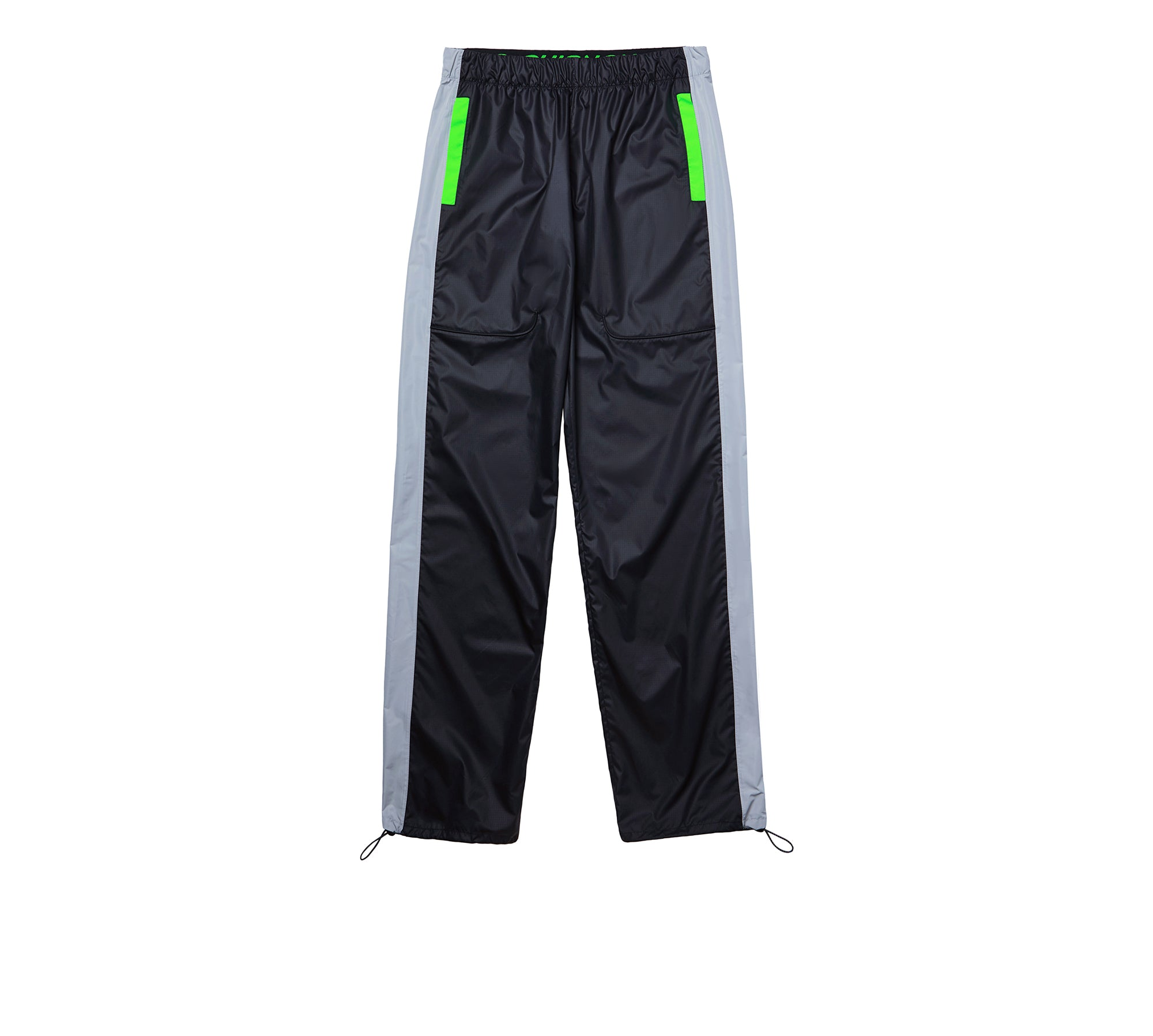 DRAWSTRING  CONTRAST PIPING TROUSERS