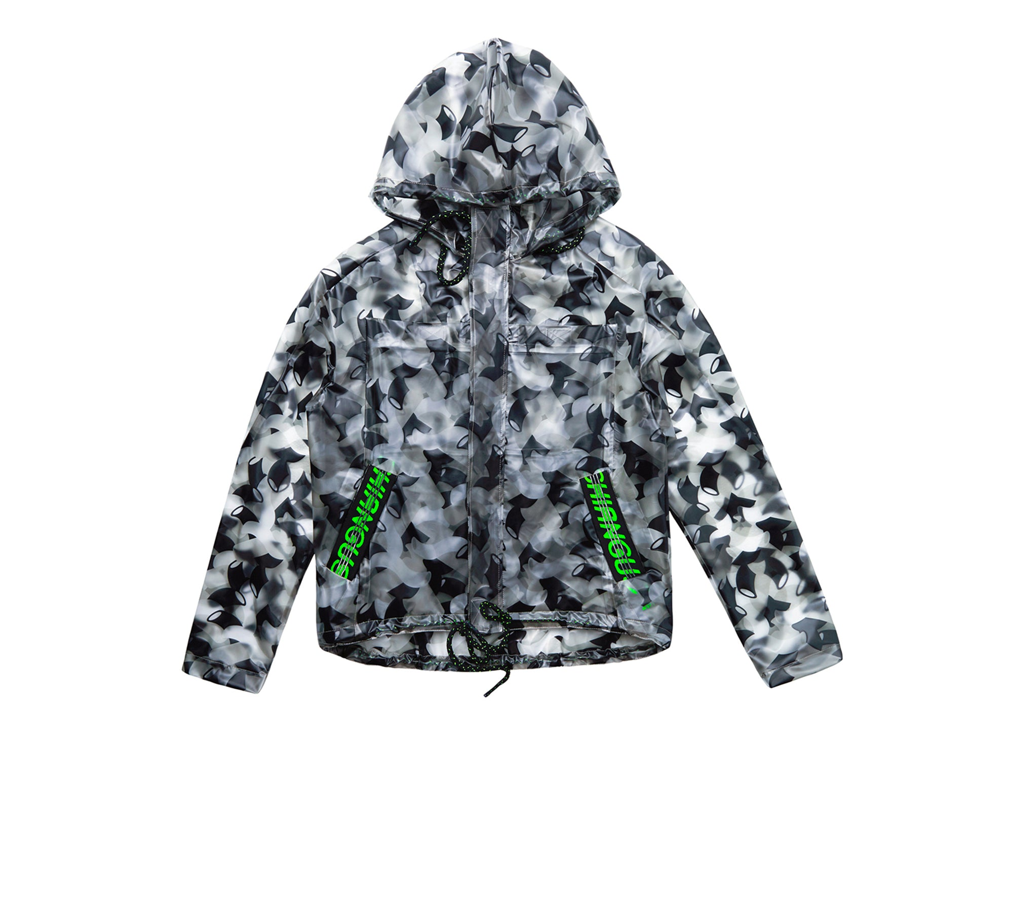 DRAWSTRING ZIP TPU HOODED JACKET