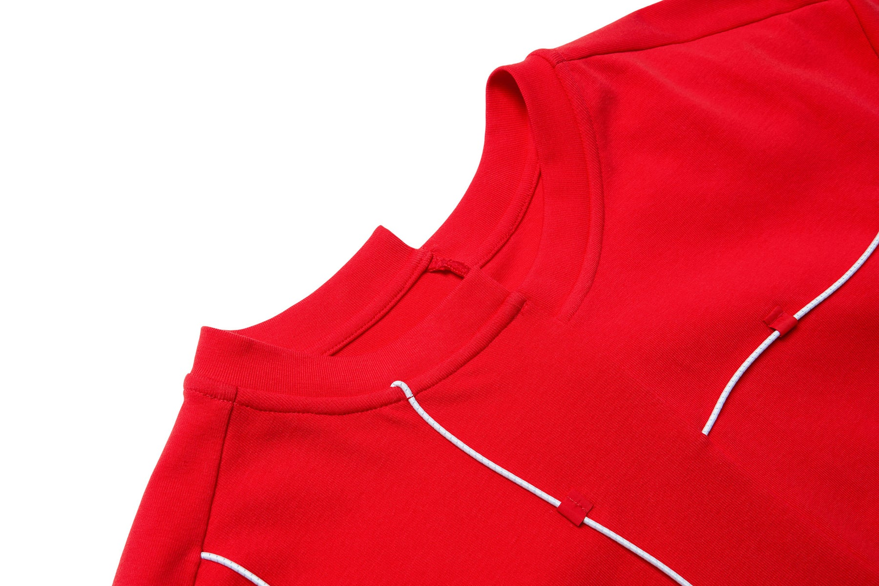 ASYMMETRIC STRINGING T-SHIRT