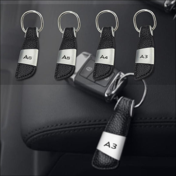 Leather Key Chain Audi Style - Models : A3 / A4 / A5 / A6 - key chain