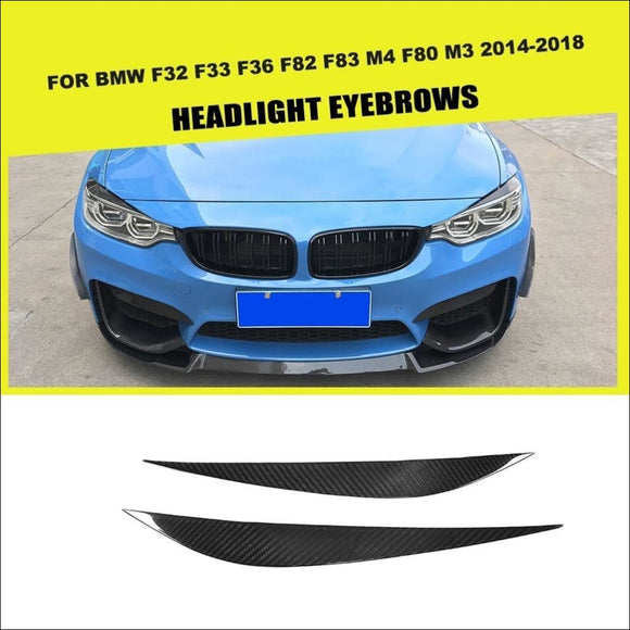 CF or FRP Car Front Headlight Eyebrows Trims for BMW F33 F32 F36 F82 F83 M4 F80 M3 - Eyebrows