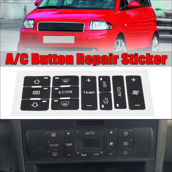A/C Button Repair Kit For Audi A2/ A3 8L - Air Conditioner Repair Kit Sticker