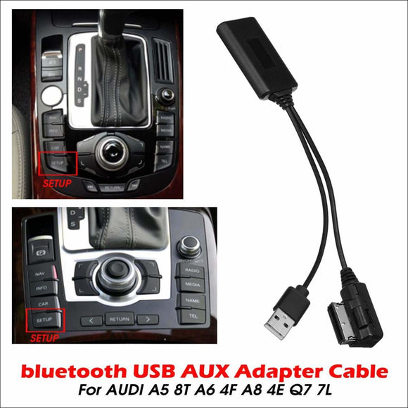 Bluetooth USB AUX In Adapter Cable For AUDI A5 8T A6 4F A8 4E Q7 7L System AMI MMI 2G - Bluetooth Adapter