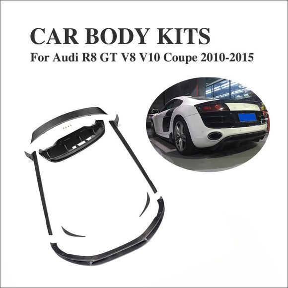 Carbon Fiber Body Kits - Front Side / Rear Lip Spoiler / Side Skirts for Audi R8 GT V8 V10 2010-2015 - Body Kit