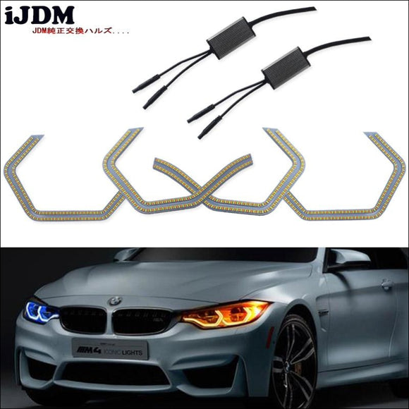 Angel Eyes dual color Retrofit For Bmw 2 3 4 5 Series (M4 Concept Angel Eyes) - angel eyes