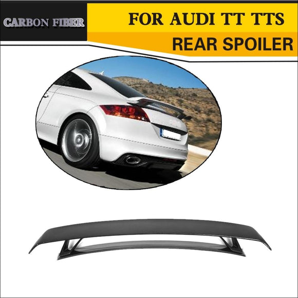 Carbon Fiber Rear Spoiler for Audi TT MK2 8J TTS Coupe 2008-2014 - Wing