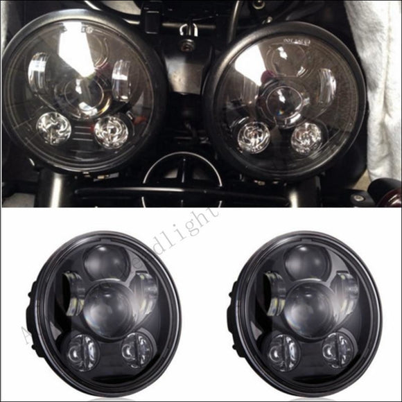 Pair (2 PCS )Triumph LED Headlights Speed/Street Triple 955 Rocket 3 and Harley - Motorcycle