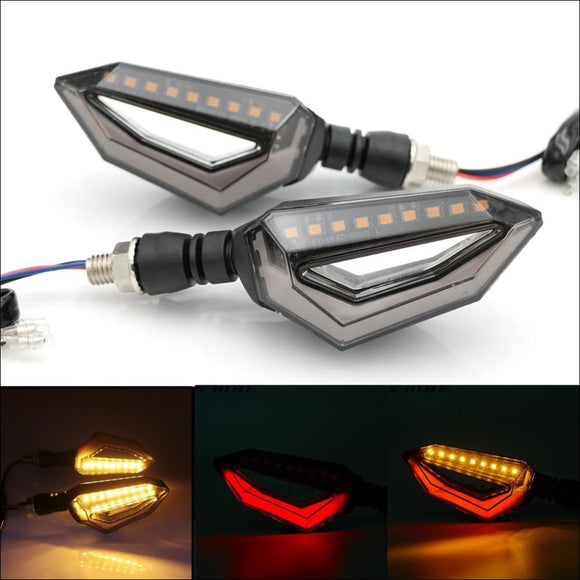 Universal Motorcycle 12 LED Turn Signal Lights - Lights