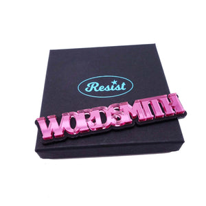 WORDSMITH brooch – click for more colours