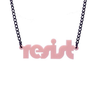baby pink retro disco resist necklace