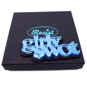 GIRLY SWOT brooch