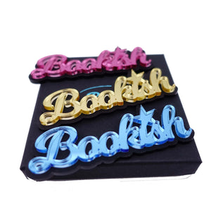 Bookish brooches for writers in three colours