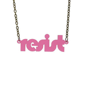 rose pink frost retro disco resist necklace