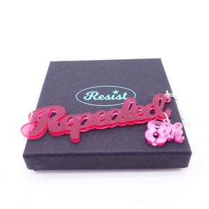 Cherry frost Repealed the 8th necklace with pink mirror 8th shown on box