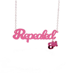Cherry frost Repealed the 8th necklace with pink mirror 8th