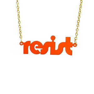 chilli red frost retro disco resist necklace
