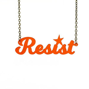 chilli red frost script resist necklace
