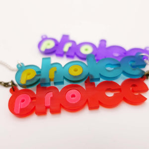 group shot of frost pro-choice necklaces